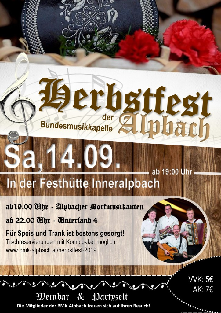 Plakat Herbstfest 2019